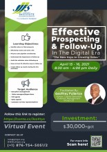 Effective Prospecting & Follow-Up In The Digital Era Workshop